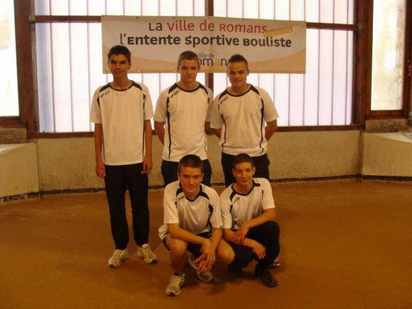 Saison 2012-2013 : Clubs jeunes moins de 18 ans