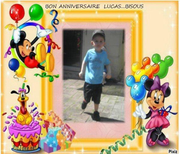 Diego Lensois 2 février 2013 ...anniversaire de mon arrière petit fils Lucas