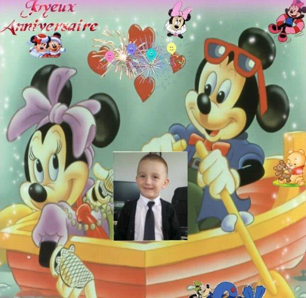 anniversaire de notre arrière petit fils Lucas ...6 ans