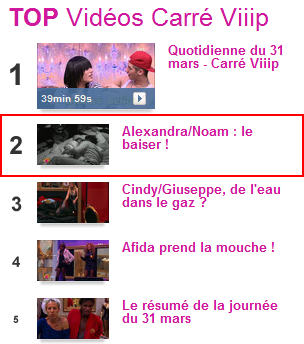 Récapitulation : Tout ce qui s'est dit sur le net concernant Noam & Alexandra dans Carré Viiip !