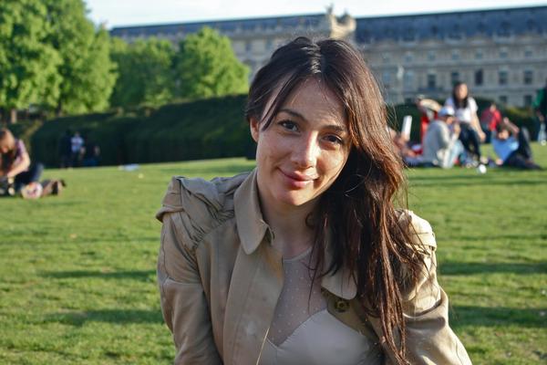 Alexandra, Noam et Kévin à Paris, le 6 Avril 2011.