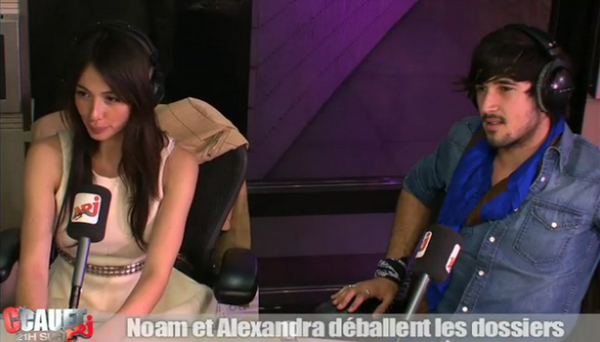 Alexandra et Noam dans la radio libre de Cauet sur NRJ, le 7 Avril 2011