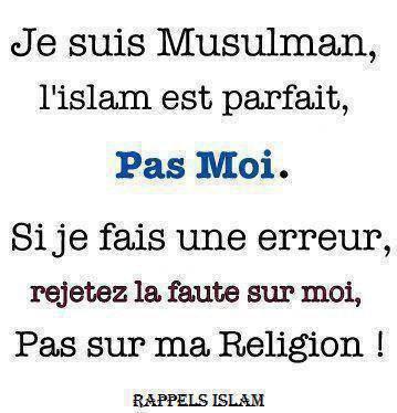 c nous qui font l ereur pas l islam