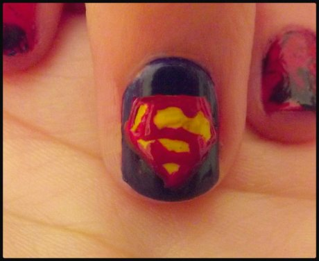 Nail arts ( 23 ) Superman