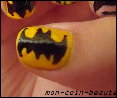 Nail arts ( 35 ) Batman