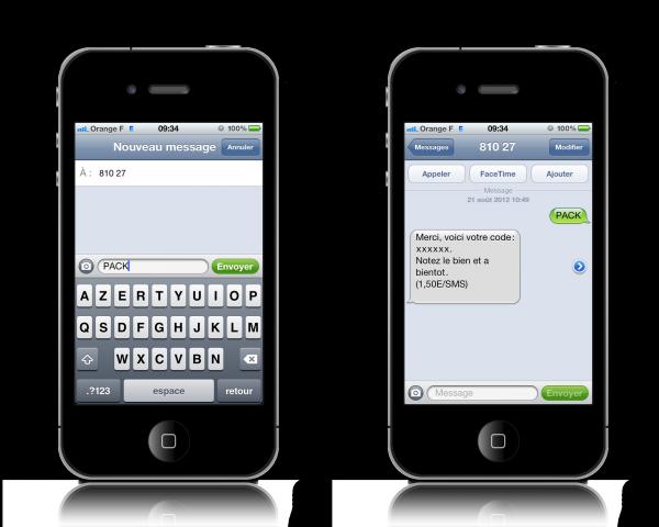 Envoyez 1 SMS (30 coms)
