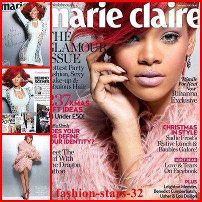 Rihanna Marie-Claire de Décembre