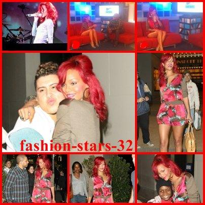 Rihanna  aux MTV studios. 28 octobre