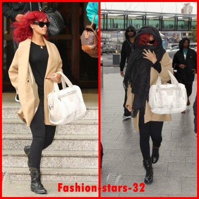 """Rihanna au centre comercial """" Westfield"""" + Restaurant  + Quittant son hôtel + Arrivant à l'aéroport .        4 & 5 Novembre"""