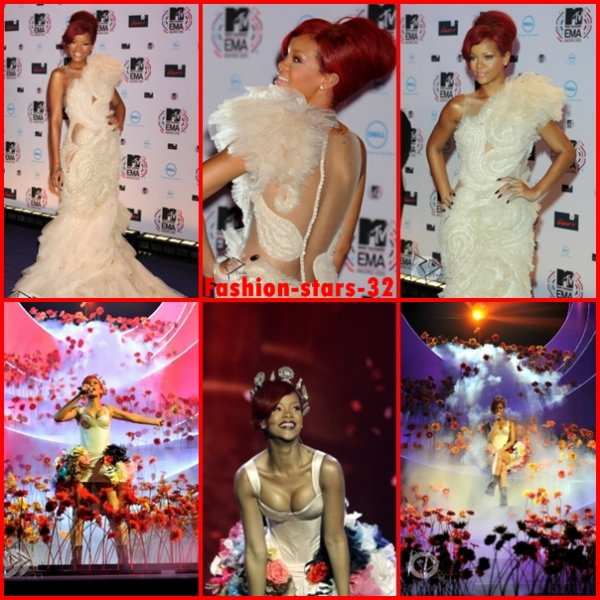 Rihanna aux MTV EMA 2010 .    7 Novembre