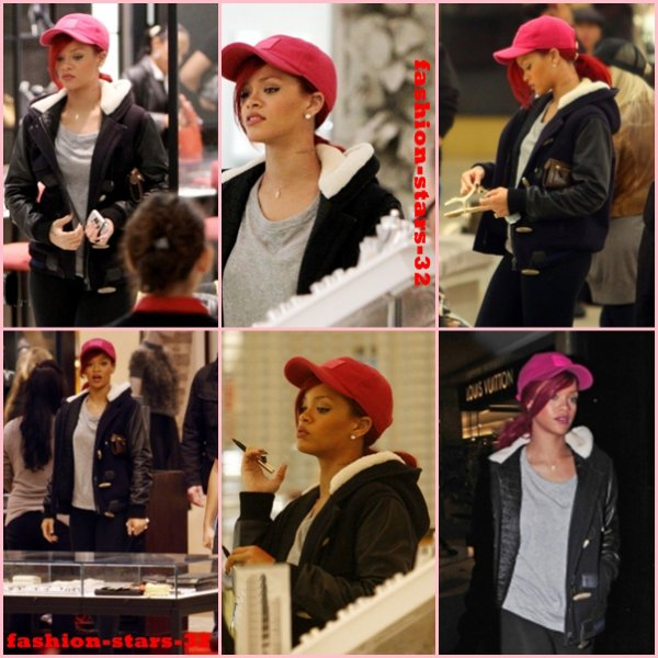 Rihanna All of the lights + Rebe'l fleur + Shopping Los Angeles  20/21 décembre
