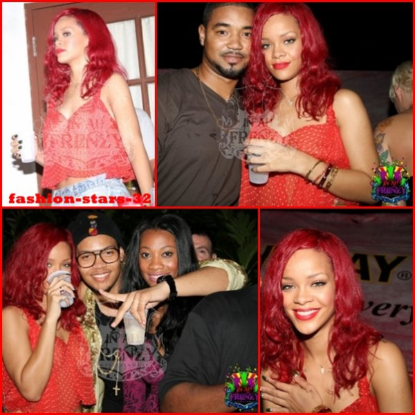 Rihanna à la Barbade .                    22 Décembre