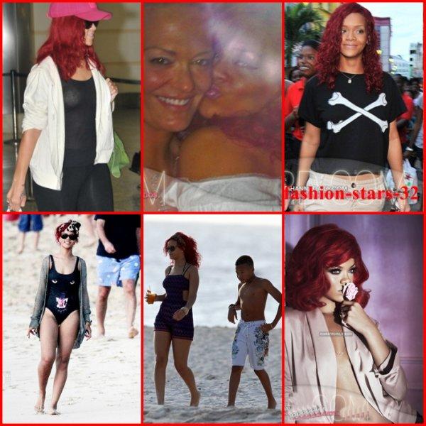 Rihanna in Barbados.   23/27 Décembre