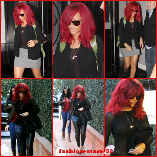 Rihanna à LA / Rupture                            5 et 6 Janvier