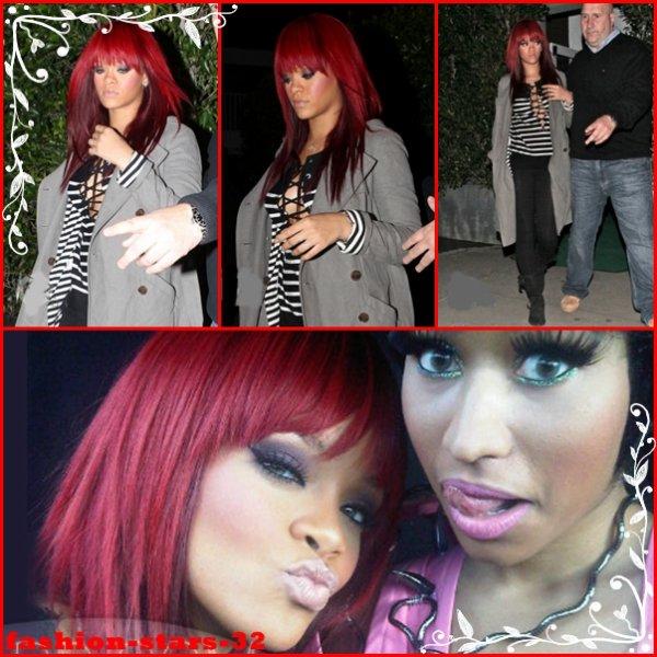 """Rihanna restaurant + """"Fly""""                          8/9 Janvier"""