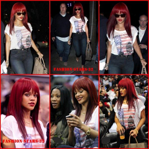 Rihanna match à LA.                                                      12 Janvier