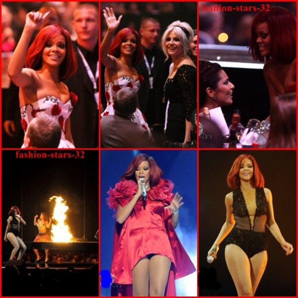 Rihanna au Brit Awards.            15 Février