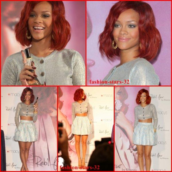Rihanna Promotion de Reb'l fleur .       19 Février