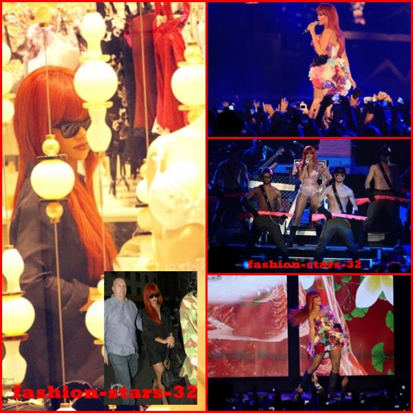 Rihanna concert à Newcastle + Shopping en Australie.    28 Février & 2 Mars.