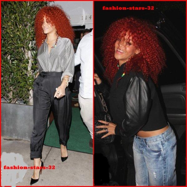 Rihanna au restaurant + quittant un phoshoot à Los Angeles.     16 Mars