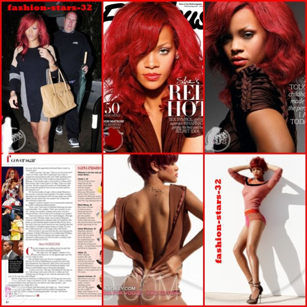 "Rihanna Los Angeles + Couv' ""Fabulous"" + Vogue.   20 Mars."