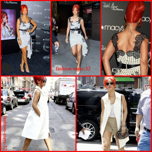 Rihanna à New York City.         27, 28, 29 Avril
