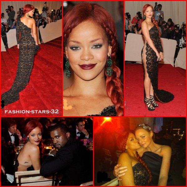 Rihanna au Costume Institute Gala à New York.    2 Mai