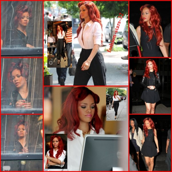 Rihanna à New York + Twiit + Cosmopolitain + Tattoo.             27/28 Mai
