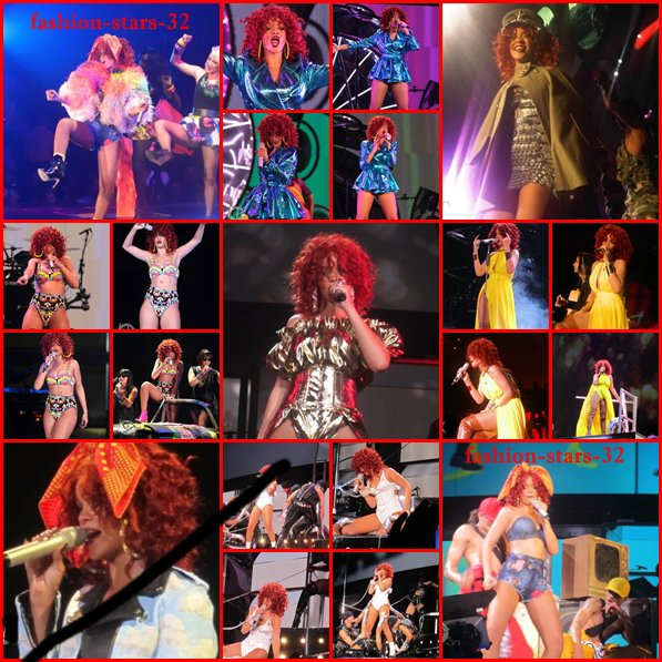 Rihanna premier concert: à Baltimore.    4 Juin