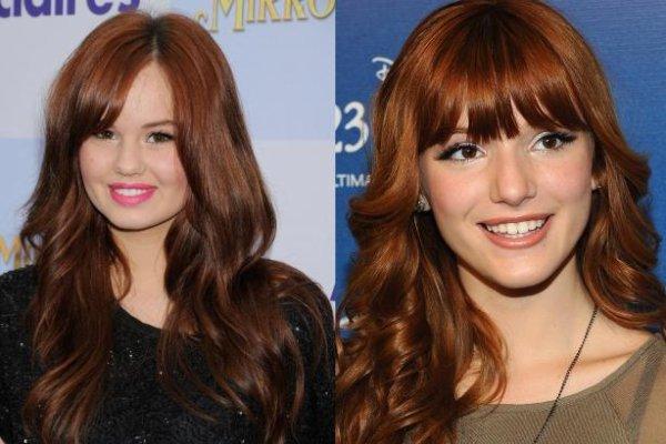 Petit article divers sur la coupe de cheveux de Bella Thorne et Debby Ryan :