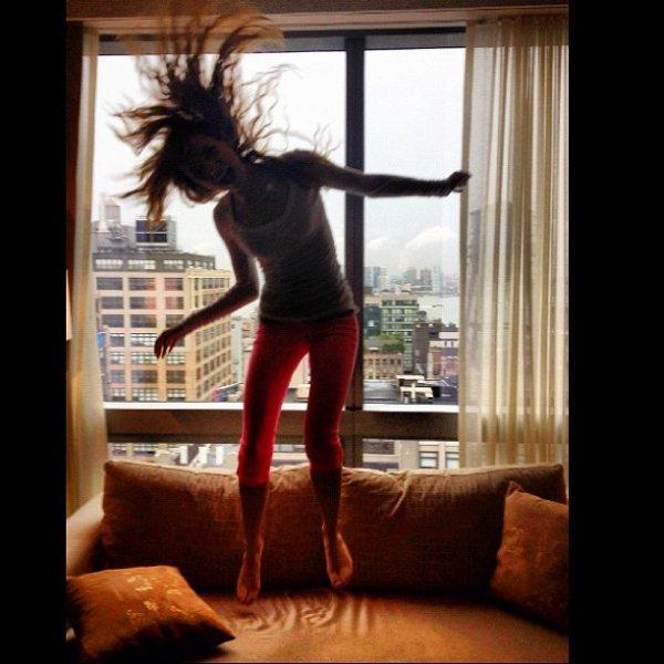 Bella dans sa chambre d'hotel à New York le 1er Août :