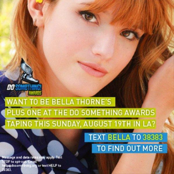 Photo promotionnel pour un concours que Bella a organisé :