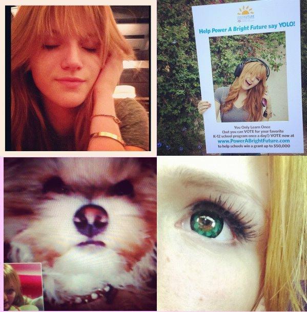 Dernieres photos twitter de Bella :