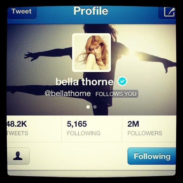 Nouvelles photo twitter de Bella du 2 decembre au 5 decembre :