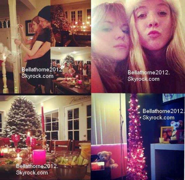 Bella, ses amies et sa famille préparant les décos de noel le 5 décembre :