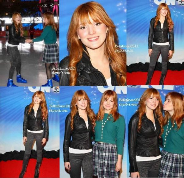Bella et Kaili au Disney on Ice's 'Dare to Dream' le 13 décembre :
