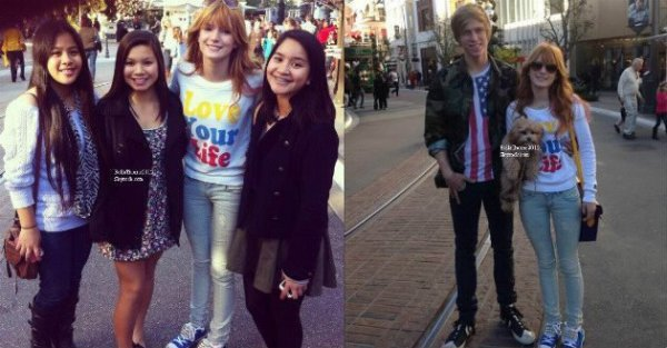 Bella et Tristan se baladant dans les rues de LA le 20 décembre :