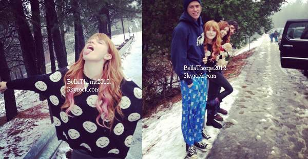 Nouvelles photo twitter de Bella le 26 décembre. Remarque: il neige à LA ;P