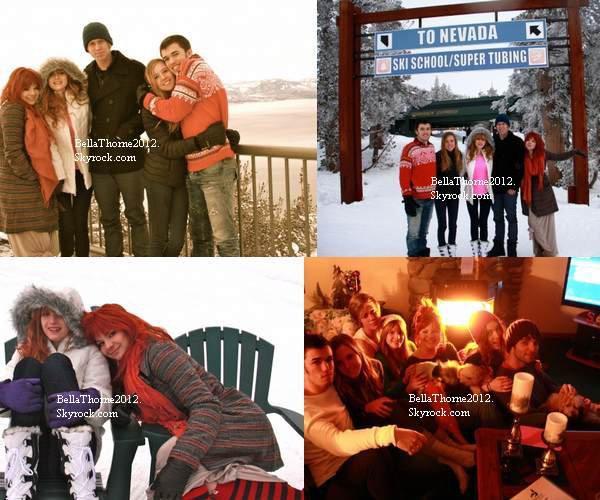 Toujours Bella,ses amis et sa famille au Lac Tahoe (Nevada) le 30 décembre:
