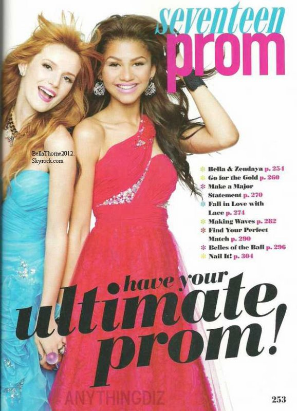 Scans du magazine ou Zella a shooté (Seventeen Prom')