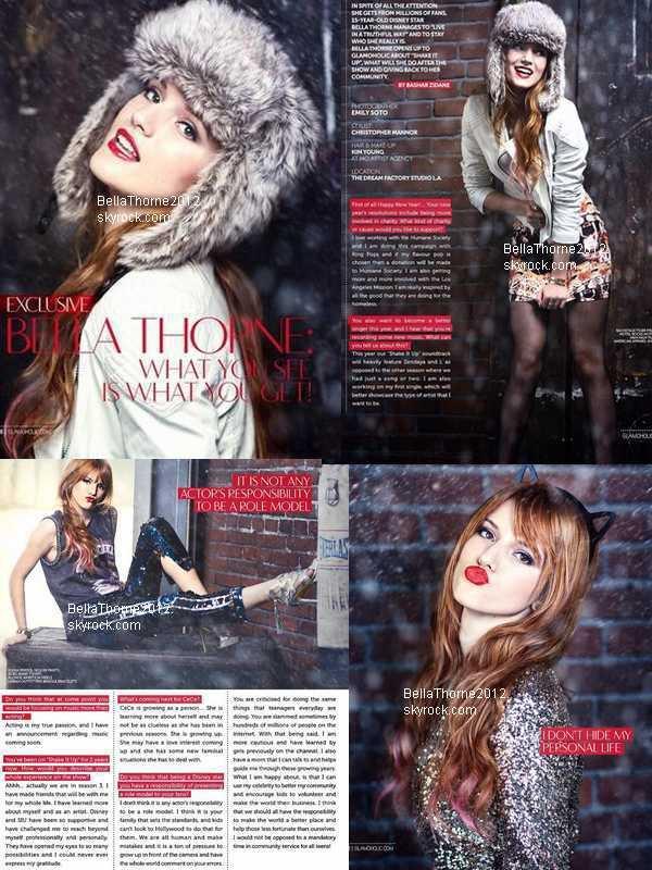 """Scans du magazine """"Glamoholic"""" du mois de janvier 2013 :"""