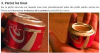 Mini réchaut avec une canette de bière