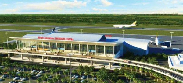 Le nouveau terminal de l'aéroport.