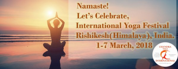 International Yoga Festival 2018 Rishikesh, India.