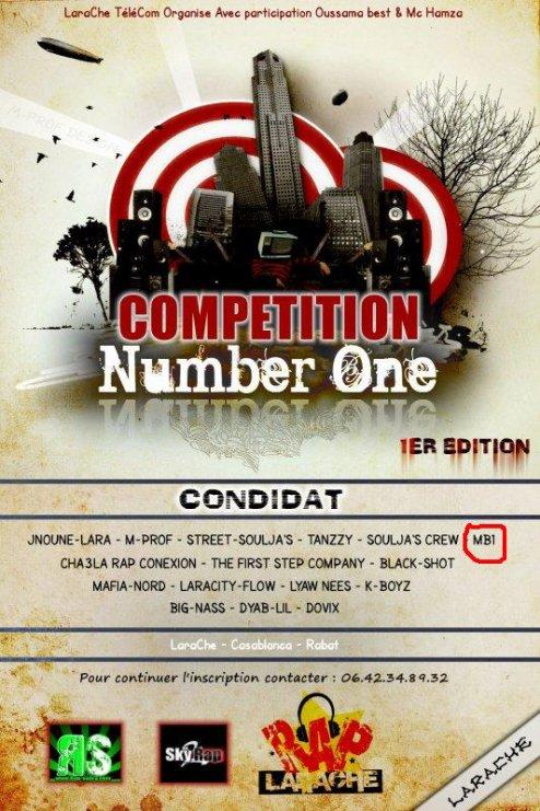 MB1 parmi Les Condidats du Compétition (Number One)