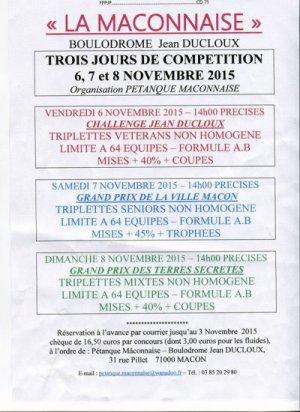 PETANQUE MACONNAISE.VAINQUEURS GRAND PRIX DE LA VILLE DE MACON.