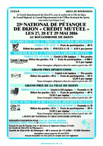 NATIONAL DE DIJON . RESULTATS EN CLIQUANT.