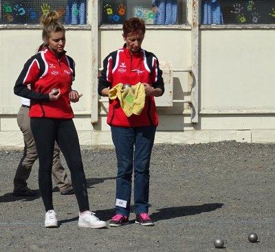 CHAMPIONNAT DE SAONE ET LOIRE: QUALIFICATIF  Doublettes Seniors et Féminin .PHOTOS ET VIDEO.