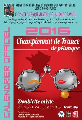 Le Comité de Haute-Savoie accueillait le 23 et 24 juillet le Championnat de France Doublettes Mixte.