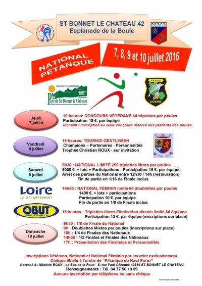 NATIONAL ST BONNET LE CHATEAU.9 ET 10 JUILLET.